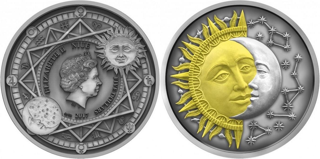 niue 2017 soleil & lune