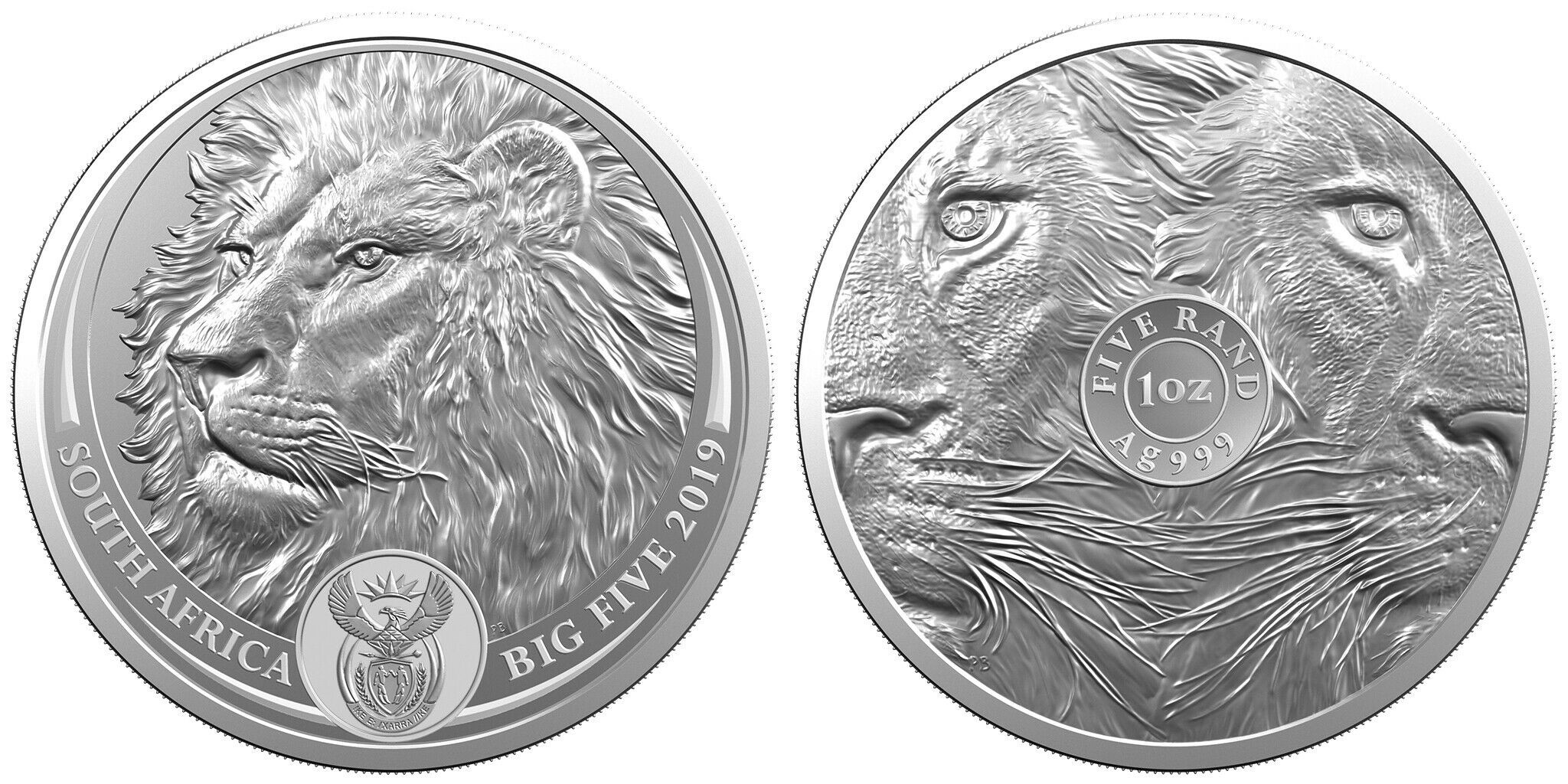 afrique du sud 2019 big five lion UNC
