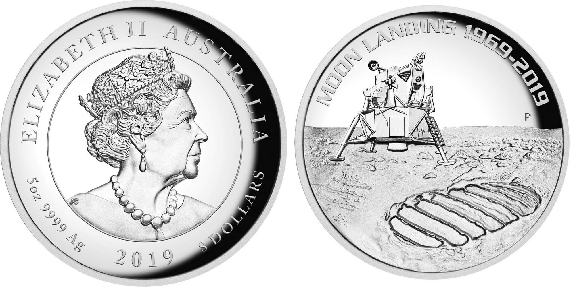 australie 2019 50 ans premier homme sur la lune 5 oz