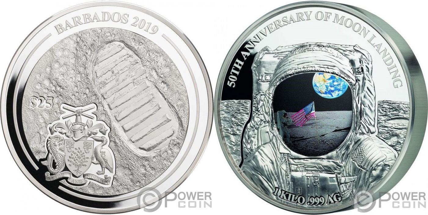 barbade 2019 50 ans premier homme sur la lune kg
