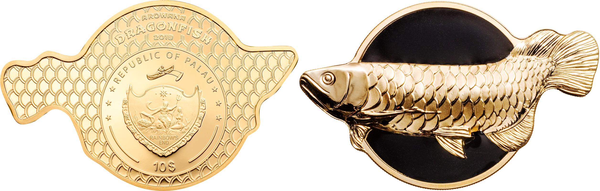 palau 2019 arowana poisson dragon