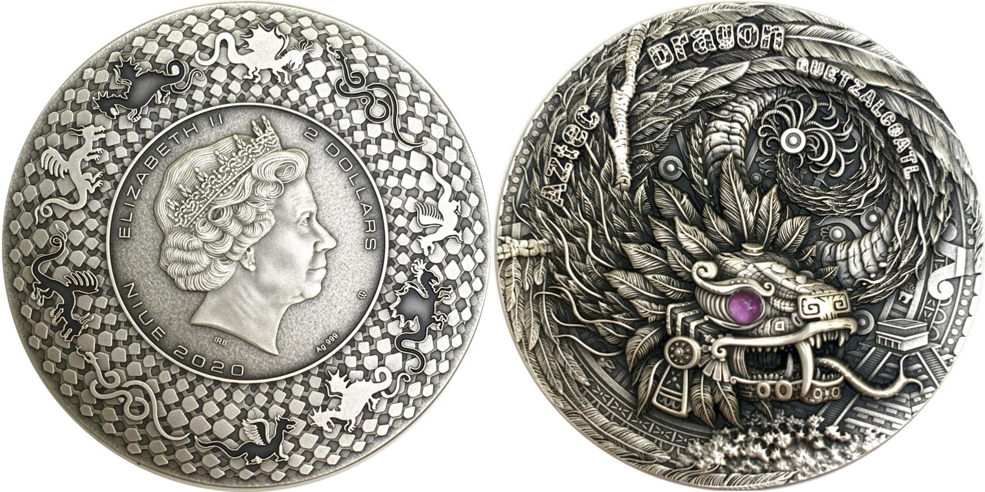 niue-2020-dragon-azteque-quetzalcoatl