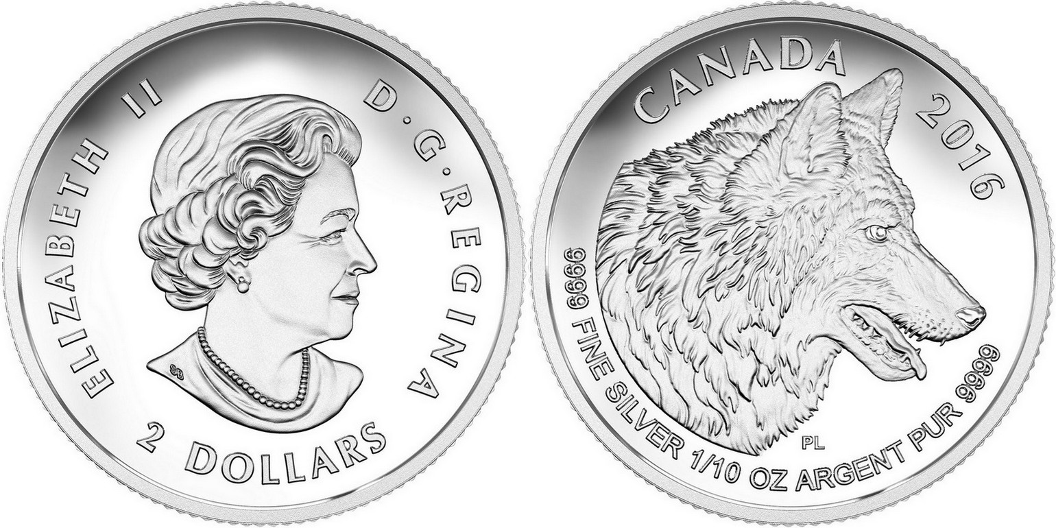canada 2016 loup set divisionnaire 3.11 g