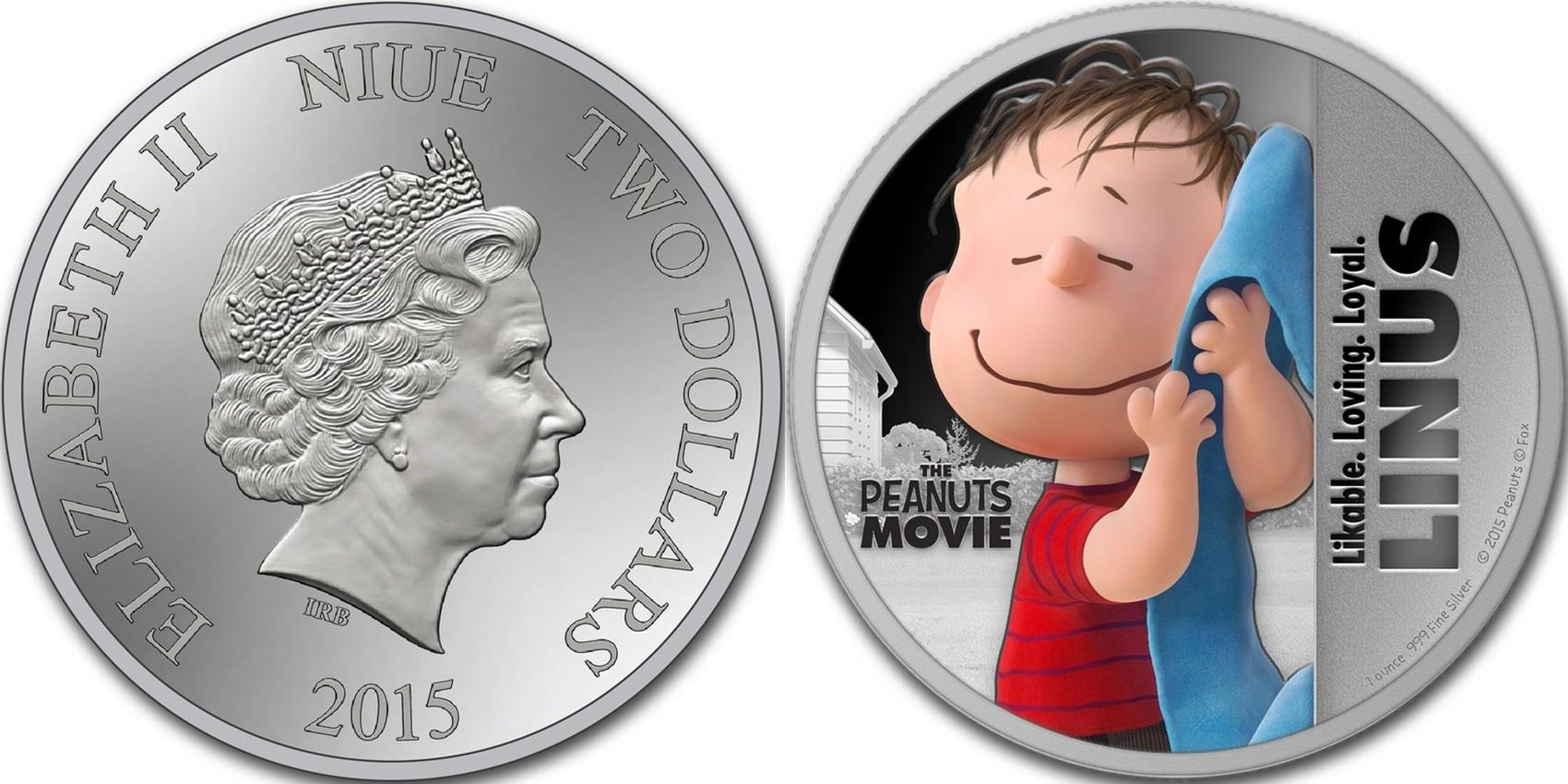 niue 2015 peanuts linus