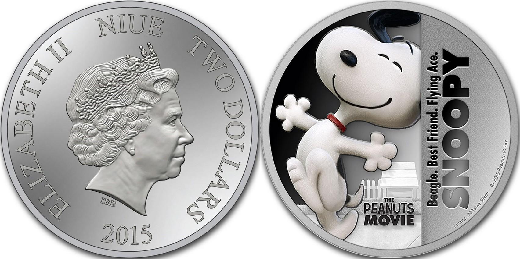 niue 2015 peanuts snoopy