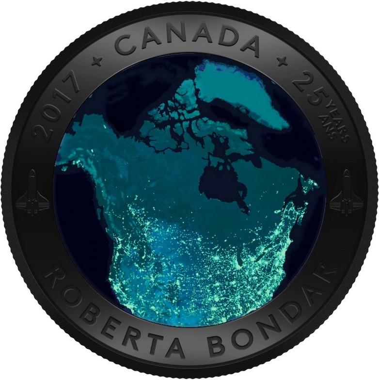 canada 2017 canada vu de l'espace luminescente