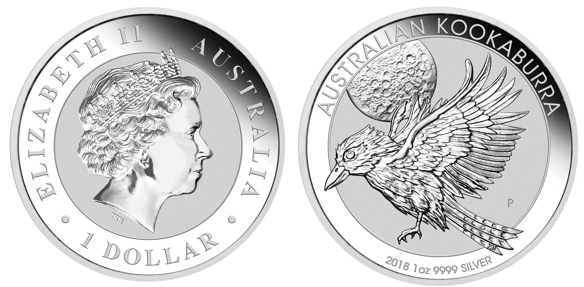australie 2018 kookaburra 1 oz