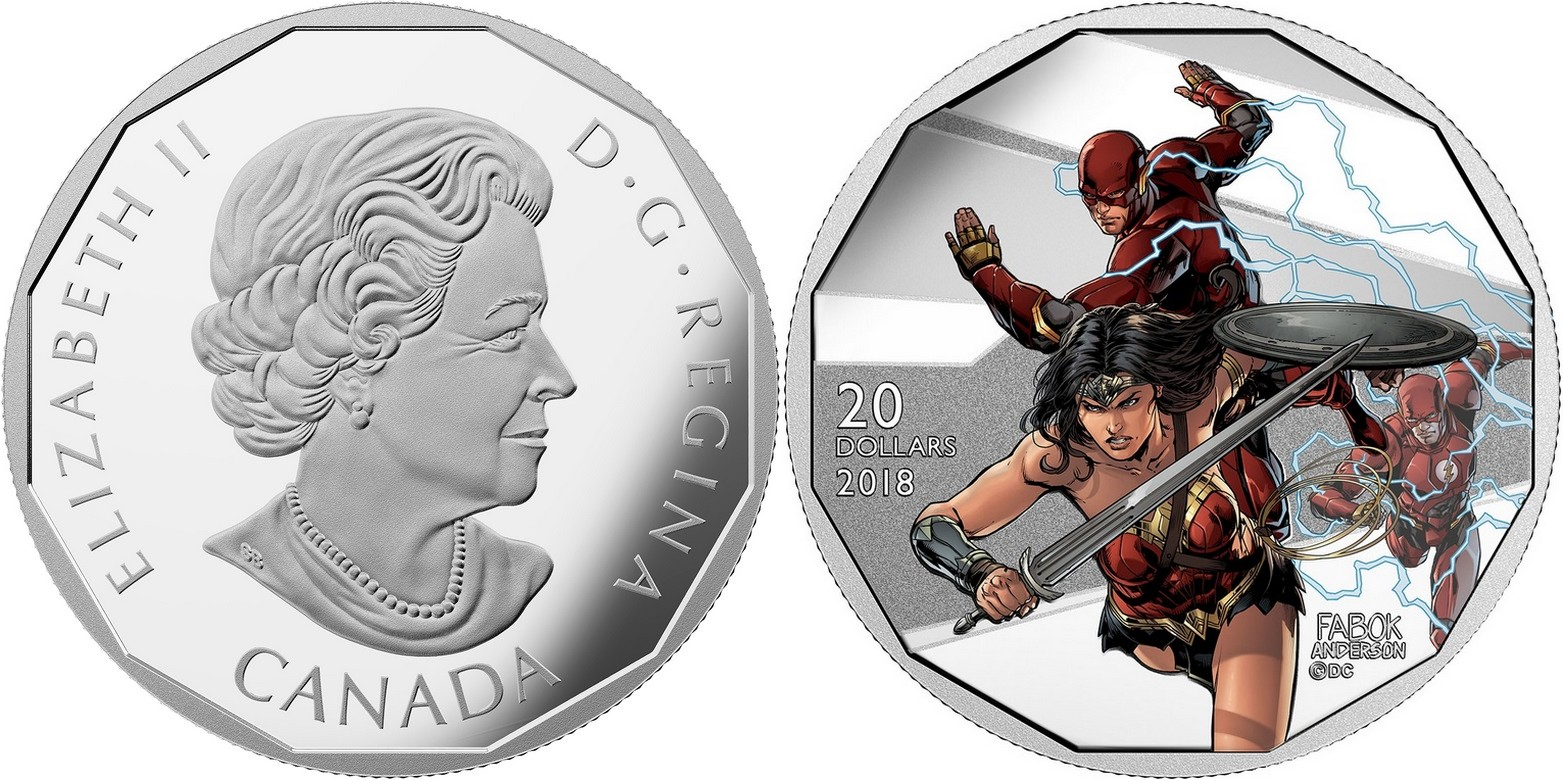 canada 2018 ligue des justiciers wonder woman & flash