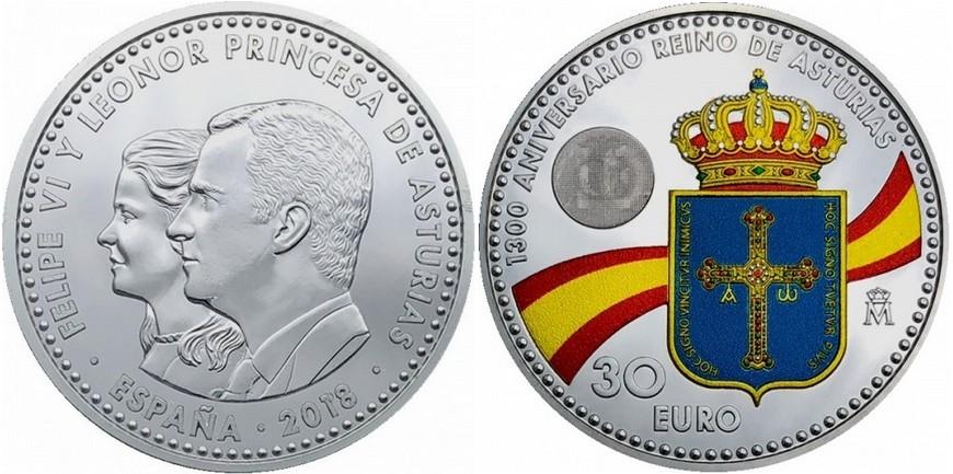 espagne 2018 1300 ans du roi des asturies