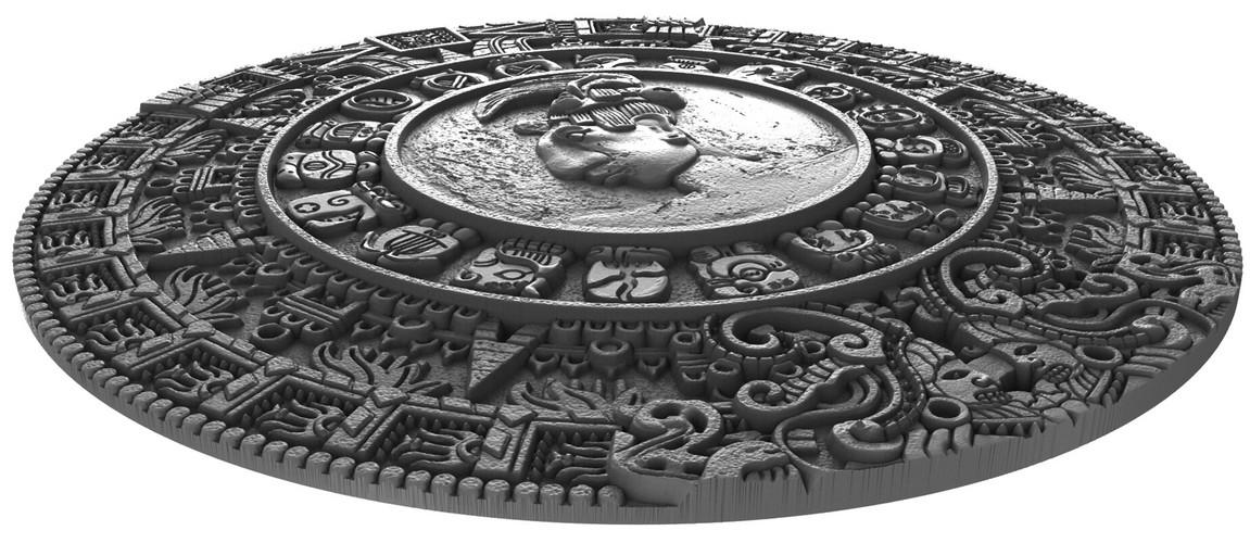 niue 2018 calendrier maya relief