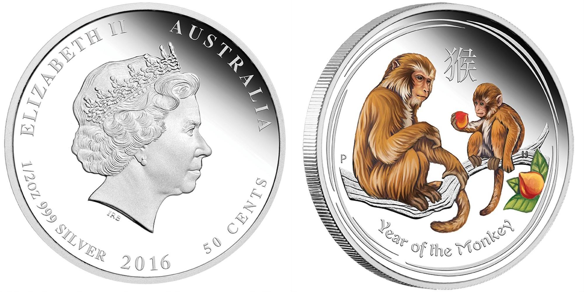 australie 2016 singe couleur demi oz