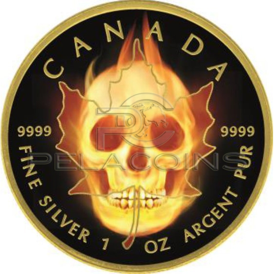 canada 2015 burning maple skull