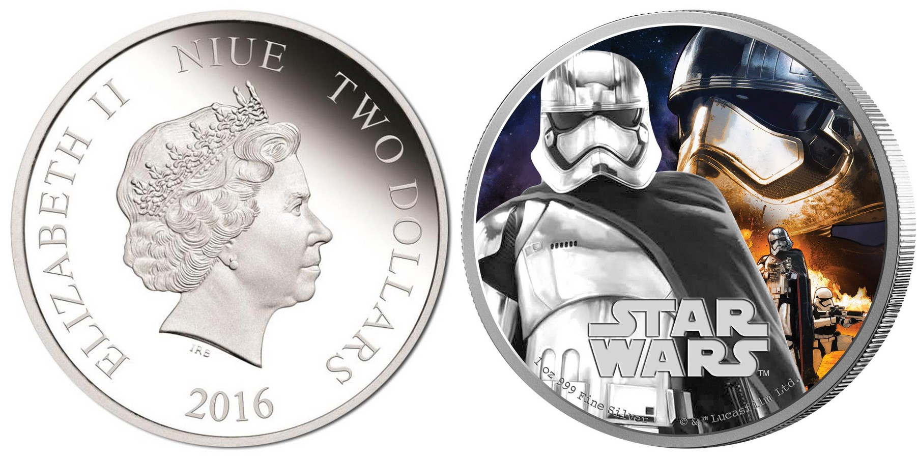 niue 2016 star wars capitaine phasma