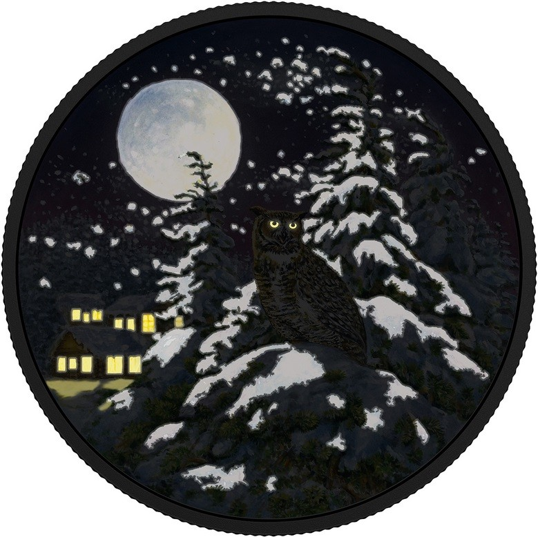 canada 2017 animaux au clair de lune grand-duc nuit