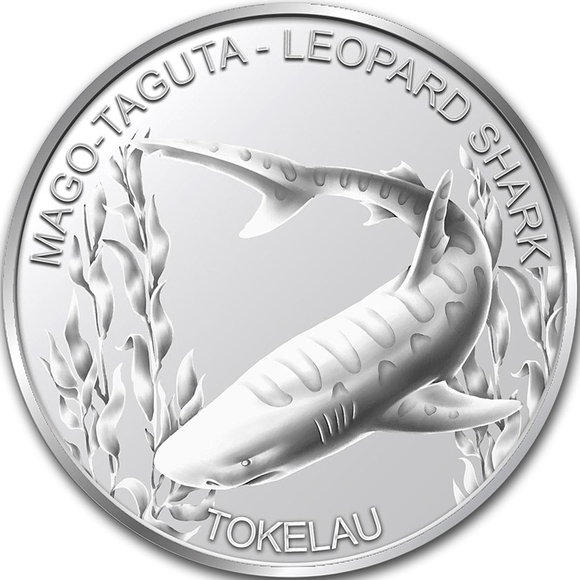 tokelau 2018 requin léopard bullion