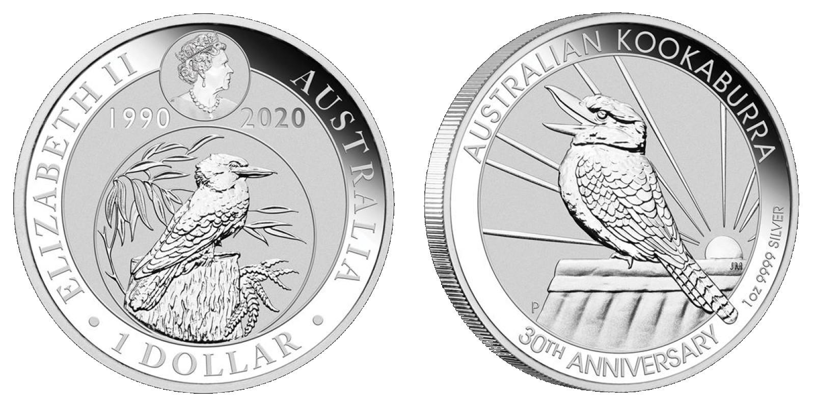 australie-2020-kookaburra-30-ans-1-oz-bu