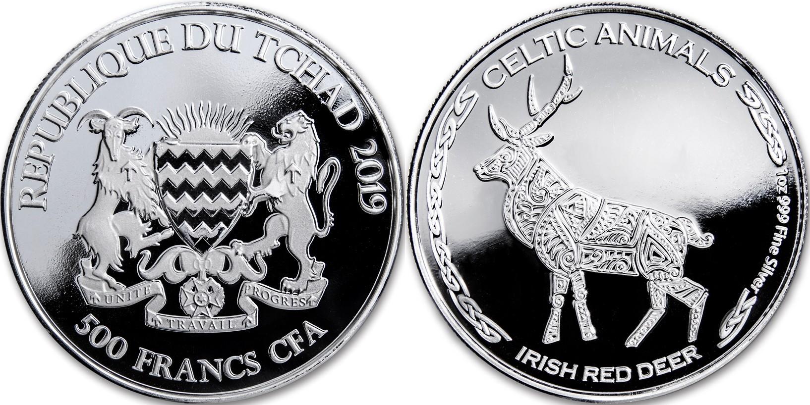 tchad-2019-animaux-celtiques-cerf-rouge-irlandais