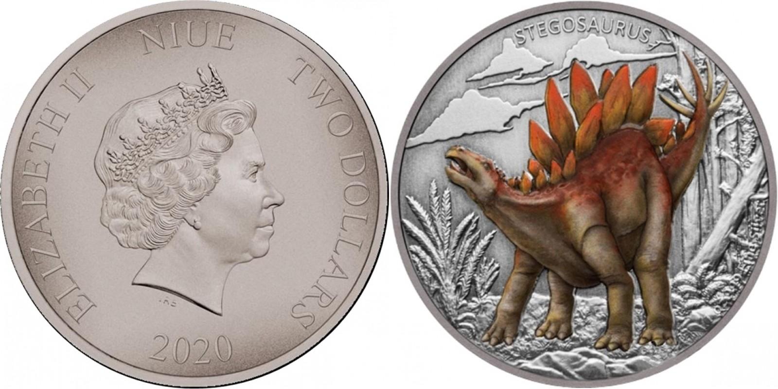 niue-2020-dinosaures-stegosaure