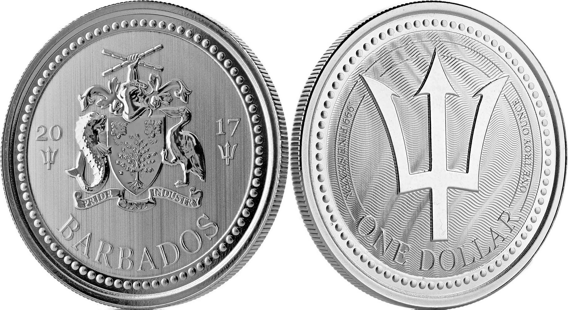 barbade 2017 trident bullion