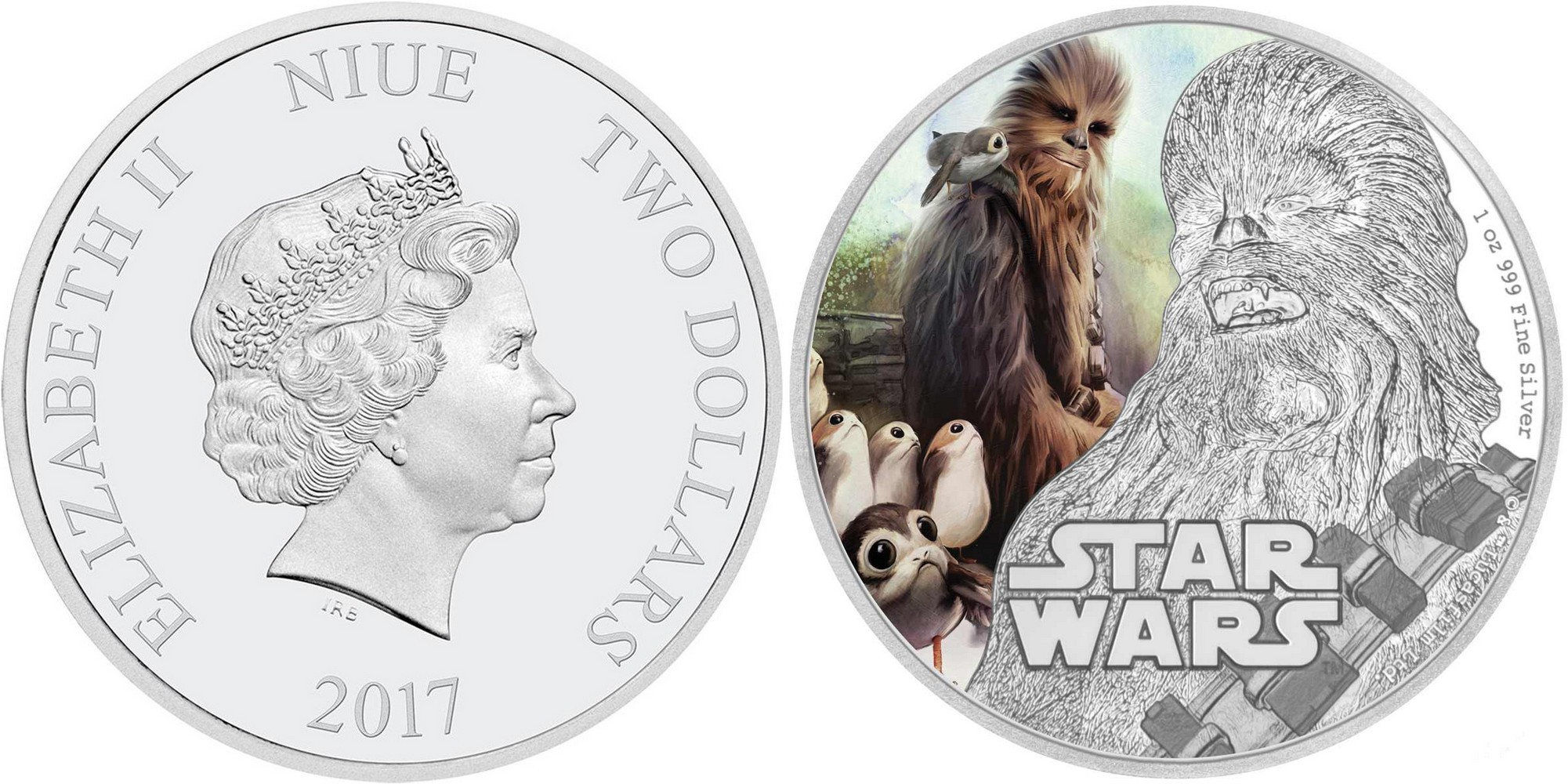niue 2017 star wars chewbacca