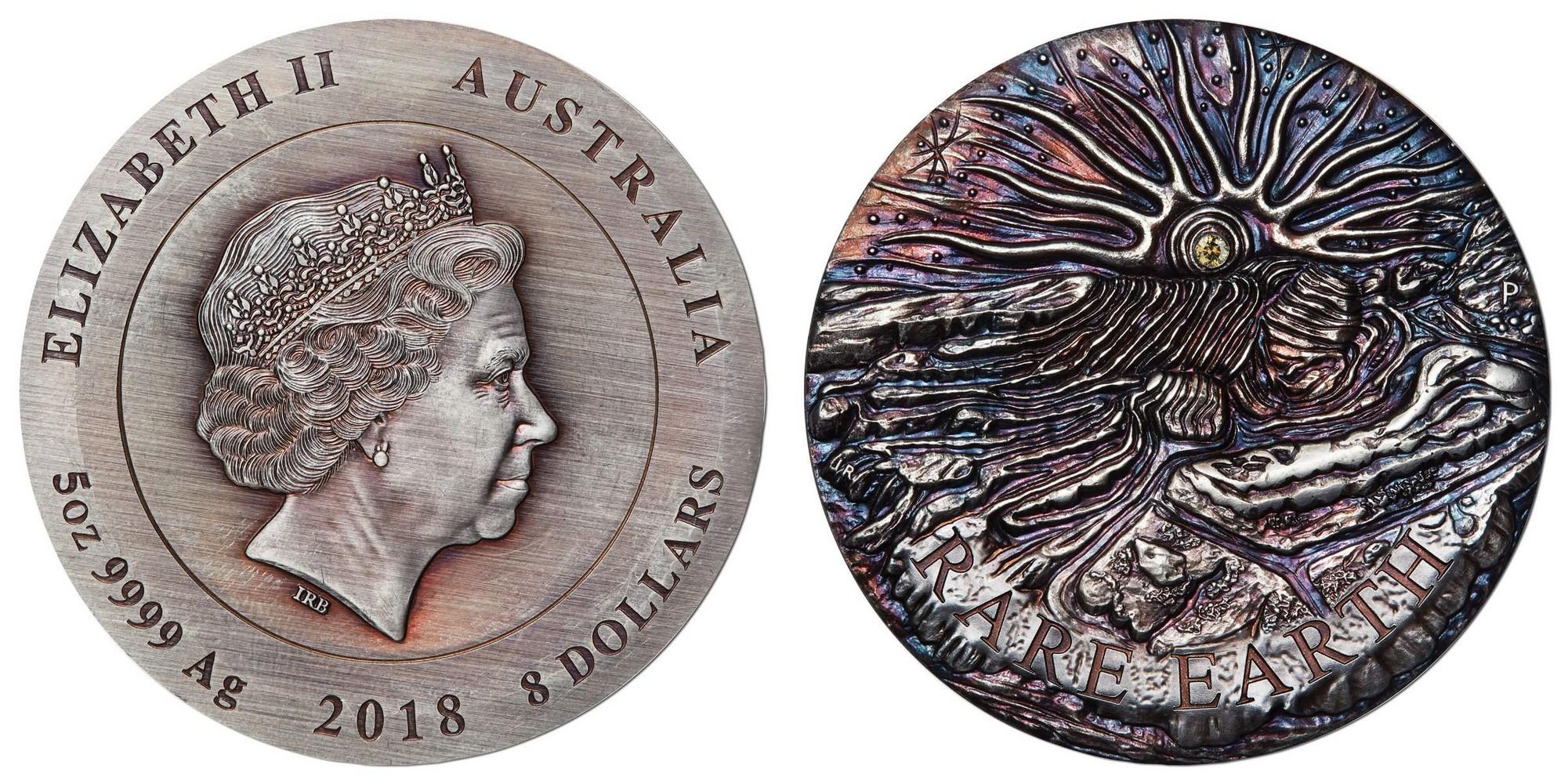 australie 2018 rare terre