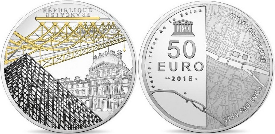 france 2018 unesco louvre 5 oz