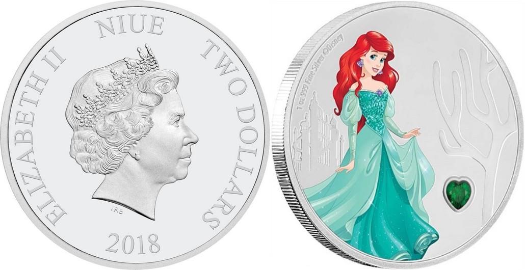 niue 2018 princesse disney ariel