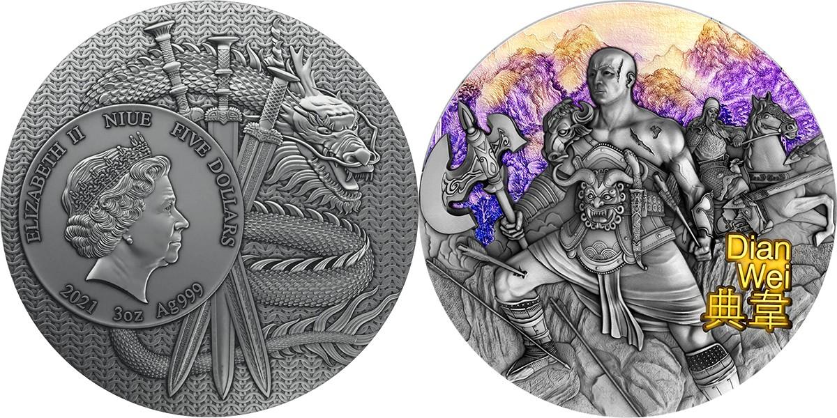niue-2021-guerriers-de-lancienne-chine-dian-wei