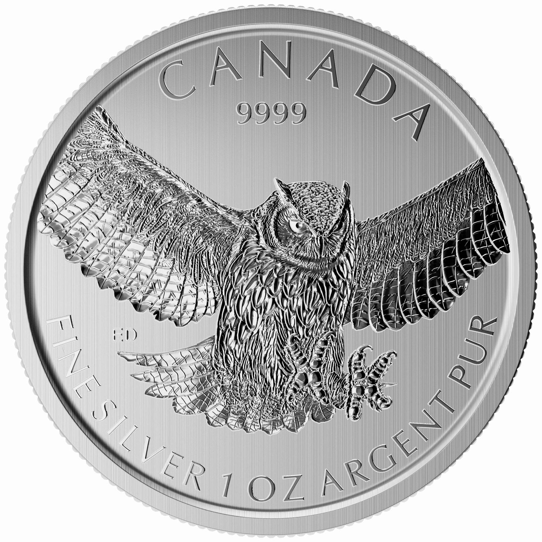 canada 2015 oiseaux de proie grand duc bullion