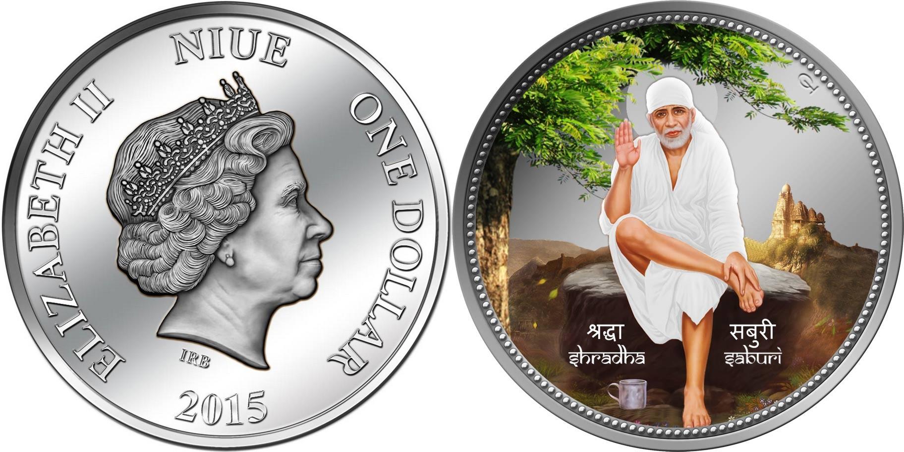 niue 2015 Sri Shirdi Sai Baba