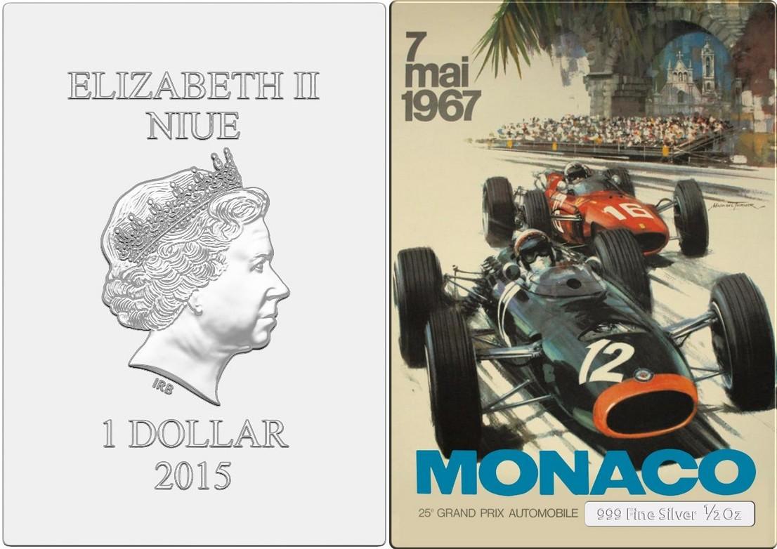 niue 2015 mini posters monaco
