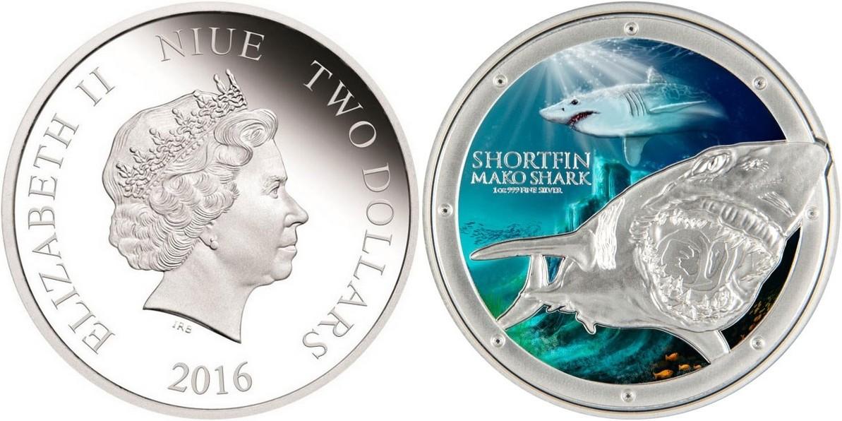 niue 2015 requin mako