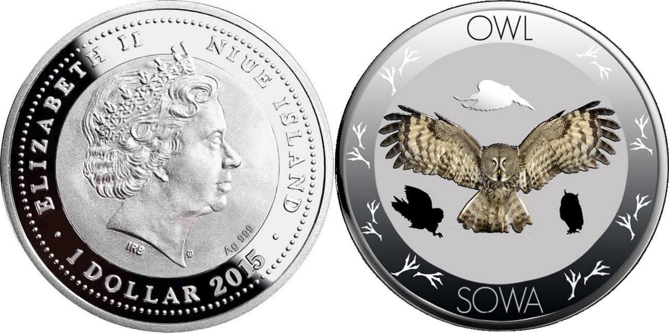 niue 2015 vie sauvage polonaise hibou