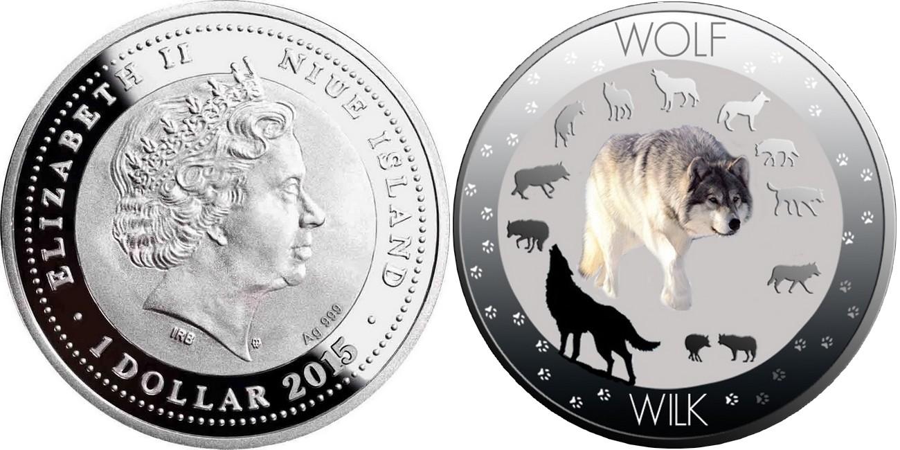 niue 2015 vie sauvage polonaise loup