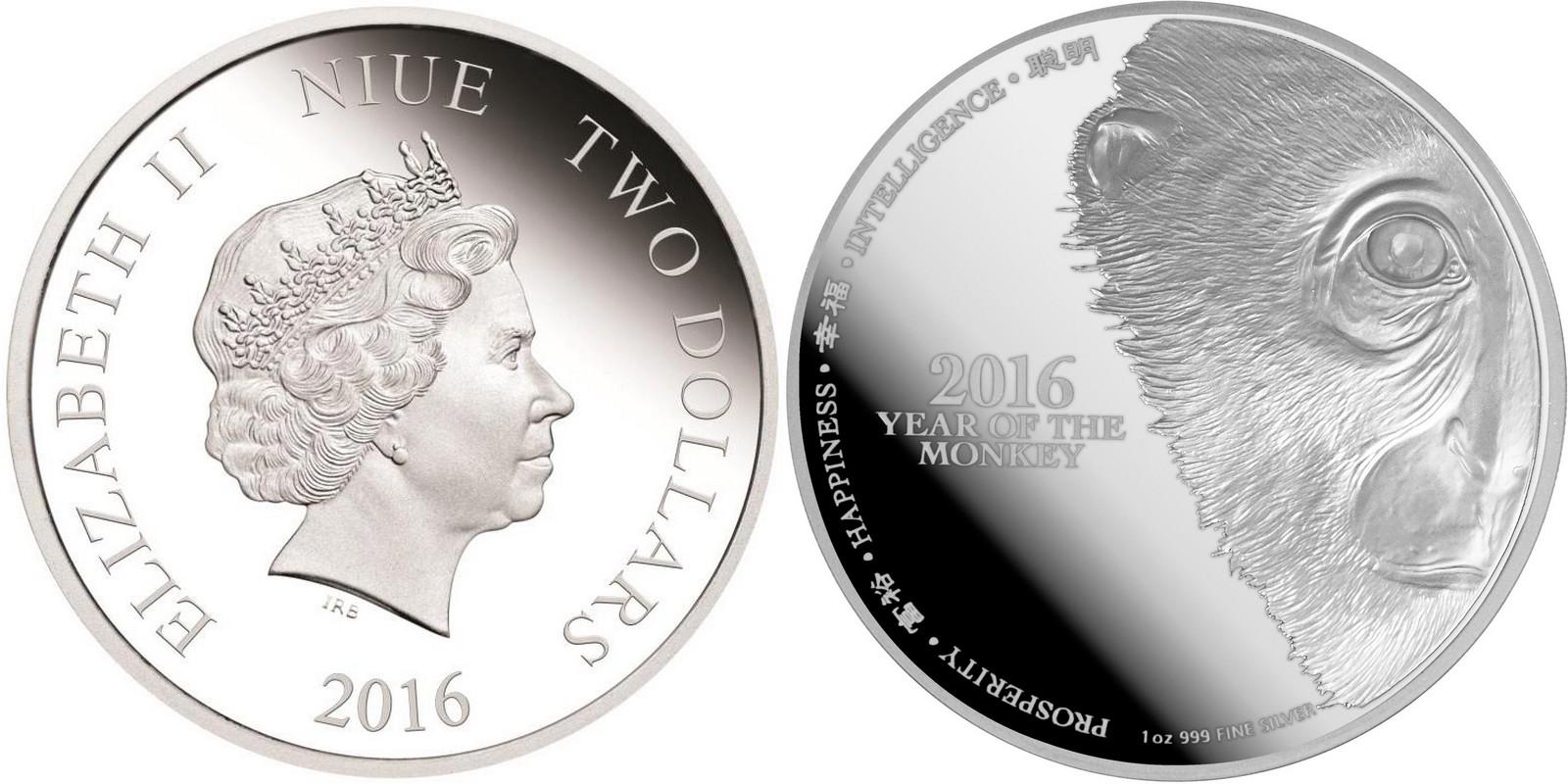 niue 2016 singe MZ mint