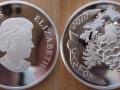 CANADA 20 DOLLARS 2010 - POMME DE PIN CRISTAL PIERRE DE LUNE