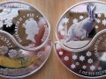 FIDJI 2 x 1 DOLLAR 2011 - ANNEE DU LAPIN