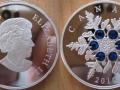 CANADA 20 DOLLARS 2010 - FLOCON DE CRISTAL BLEU